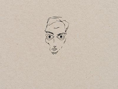 Dangerous portrait portrait dangerous vector logo branding boy design art illustration graphic design digital