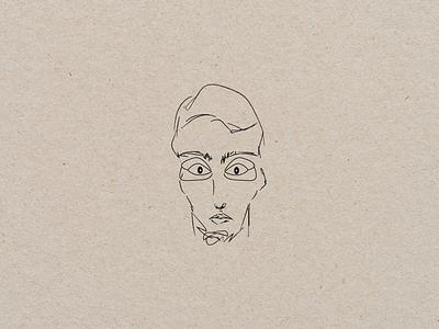 Scared portrait portrait scared vector logo branding boy design art illustration graphic design digital
