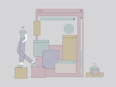 Web creators girl charts ux web vector ui logo branding boy design art illustration graphic design digital