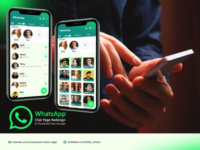WhatsApp chat page redesign ux ui design app