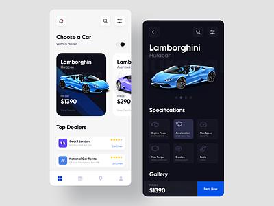 Car Rental App Design rent a car book booking car app visual design user experience ux app concept android app android ios app design app super car rental car rental car aventador lamborghini