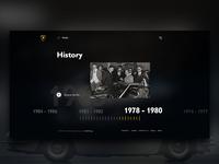 History (Lamborghini Website Re-Design)