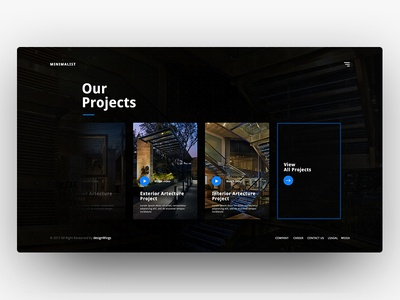 Minimalist Web UI (Our Project) concept web minimal exterior interior architecture projects
