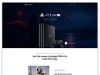 PS 4 Pro Landing Page Design