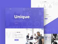 Unique - Agency Web Interface Design