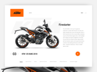 Web UI - KTM 125 Duke 2018