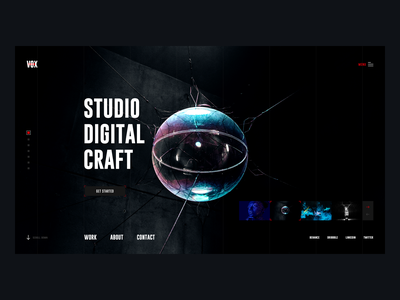 Vox - Digital Agency web studio typography minimal dark interface dark user experience user interface ux ui experience interface vox design web design digital agency agency digital