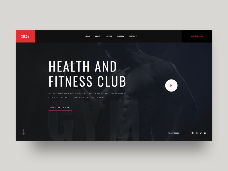 Fitness Gym typography gym website concept gym motivation fitness club fitness website gym website interface ux ui fitness landing gym landing gym landing page website fitness gym design web hero landing gym fitness