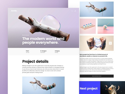 Project Details Page