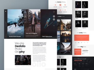 Photography Studio dexfolio portfolio sports wedding photographer typography landscape interface inspiration landing landing page travel landing travel photography studio photography design dark concept bold typography big image