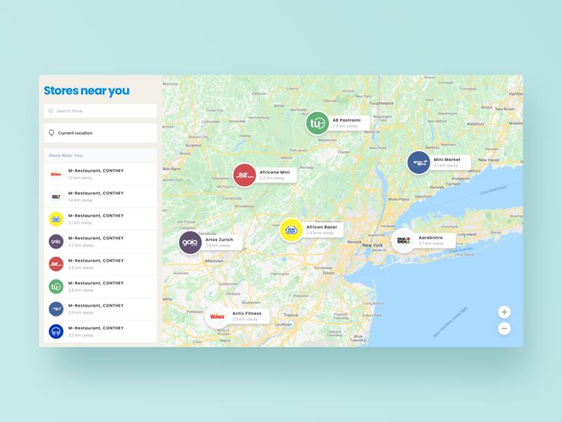 Store Finder application search statistics sell shop shop finder dashboard website web ux ui digital design app map store finder location finder location finder store
