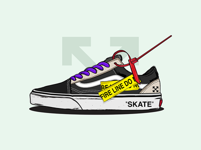 OFF White x Vans vans off white design colourful air max nike hypebeast sean wotherspoon illustration sneakers