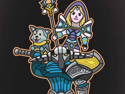 DOTA 2 LANE BUDDIES: SVEN & CRYSTAL MAIDEN