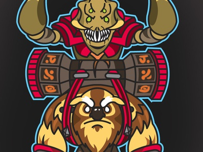 DOTA 2 LANE BUDDIES: Sandking & Earthshaker