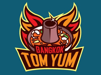 Food Sport Logo Series: Bangkok Tom Yum