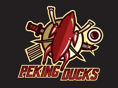 Food Sports Logo Series: Peking Ducks