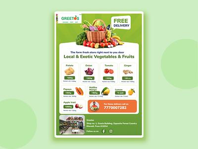 Vegetables & Fruits Poster Design design