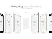 Iphone 6 plus 3 4views psd mockup p px.com