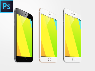 iPhone 6 Plus Free Angled PSD MpckUp apple iphone 6 plus freebie free template mockup psd device ios 8 screen p-px