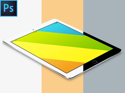 Ipad Air 2 Free Angled Vector PSD MockUp apple ipad air 2 freebie free template mockup psd device ios 8 screen p-px
