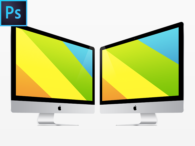 New iMac FREE PSD Vector Template by Perfect Pixels - Dribbble