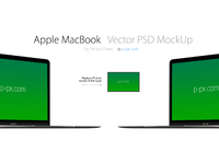 Apple MacBook Angled Vector MockUp P Px.com - Free Apple  brand new MacBook Vector PSD + AI (All Colored)