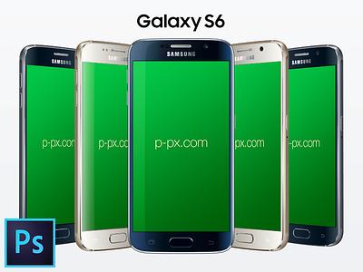 Galaxy S6 PSD + Ai Free Vector Mockup p-px android device ai psd mockup template free freebie s6 galaxy samsung