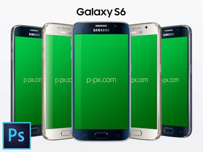 Galaxy S6 PSD + Ai Free Vector Mockup