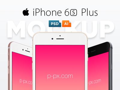 iPhone 6S Plus Free Vector PSD + Ai Template rose gold vector ai psd template mockup freebie free ios 9 plus iphone 6s apple