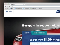 Free text search homepage