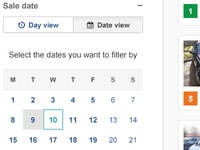 Calendar, day view or date view