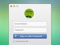 Spotify login rebound