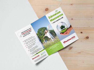 Mazovia - trifold leaflet design print design design leaflet design leaflet