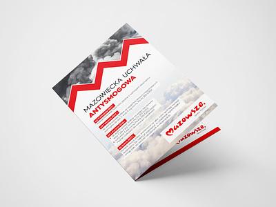 Mazovia - ecology anti-smog leaflet design folder folder design print design leaflet design leaflet ecology