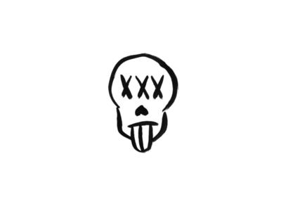 Effigy beer brewery brewing effigy skull three-eyes hand drawn logo