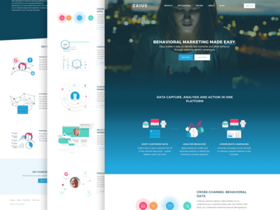 Site update product marketing website landing page homepage zaius