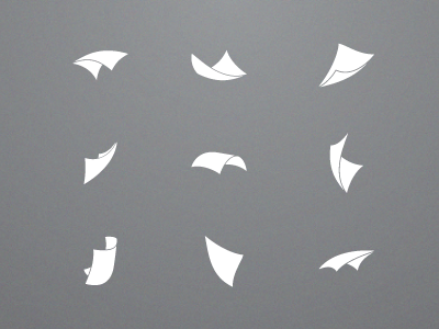 Floating Paper by Jonah Stuart - Dribbble