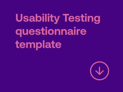 Usability testing questionnaire template