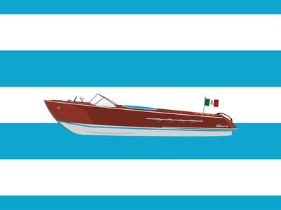 Riva Aquarama color white boat history speedboat blue acqua water illustration italy aquarama riva