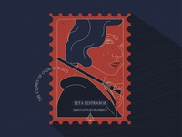 Stamp   Leta Lestrange   The Crimes of Grindelwald