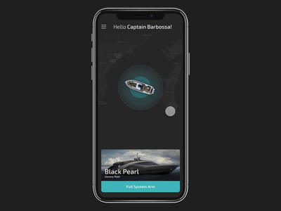 🛥📱Boat Tracking App startup tracking alarm ship sea yacht navigation motion ux adobexd animation app boat