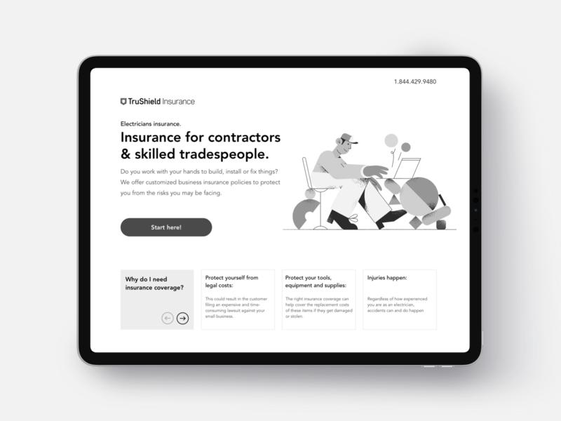 💻 Insurance landing web insurtech insurance startup interface ux