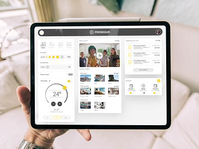 Smart Home Dashboard // Prosegur home controls ipadpro ui dashboad smarthome