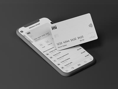 📱Miiii Wallet card money transaction finance banking creditcard fintech wallet startup interface app ux