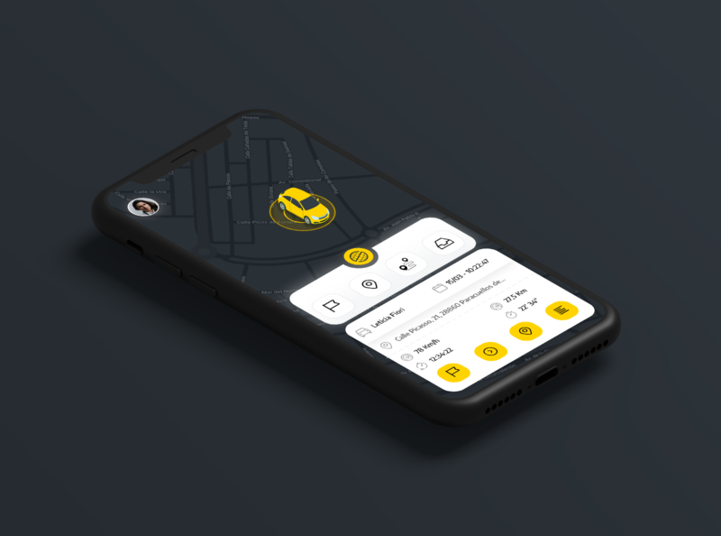 📱🇪🇸New Prosegur tracking app tracking distance route spain location tracker alarm app interface ux