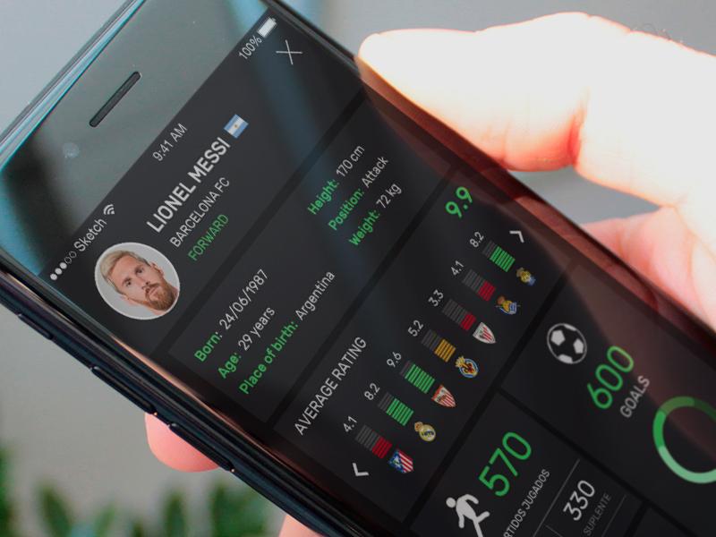 Fantasy soccer app - Work in progress app ux ui stats startup soccer messi league fantasy draft cap barcelona