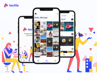 📲Textile Photos illustration innovation startup ui ux decentralized app