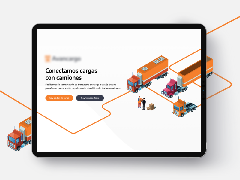🚚🚛Work in progress storage container shipping transport startup ipadpro ui pack truck landing