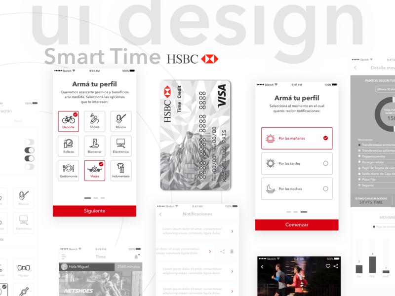 📲💳 Smart Time - HSBC Bank mobile design interface rewards smart credit card ux ios fintech app bank