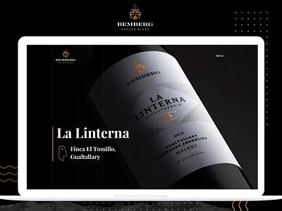 🍷🍇Bemberg Estate Wines vino argentina dark ui ui interface black bottle design ux winery wines